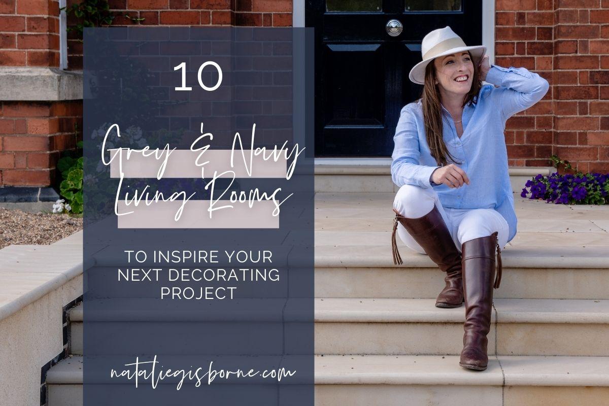 10 Grey & Navy Living Rooms