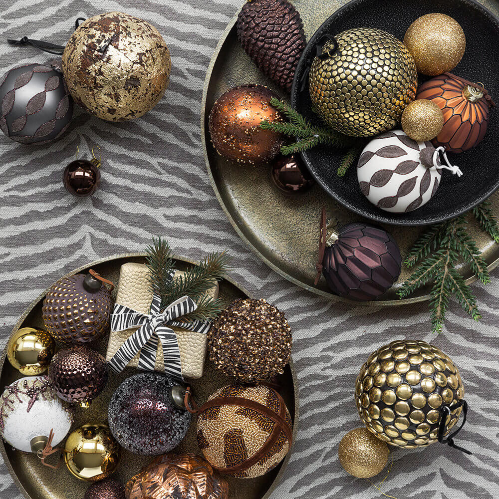 Christmas decorating baubles