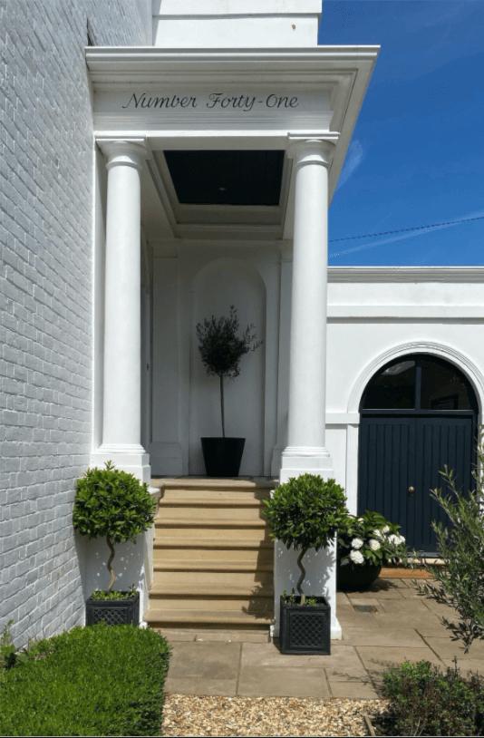 modern Georgian home entrace