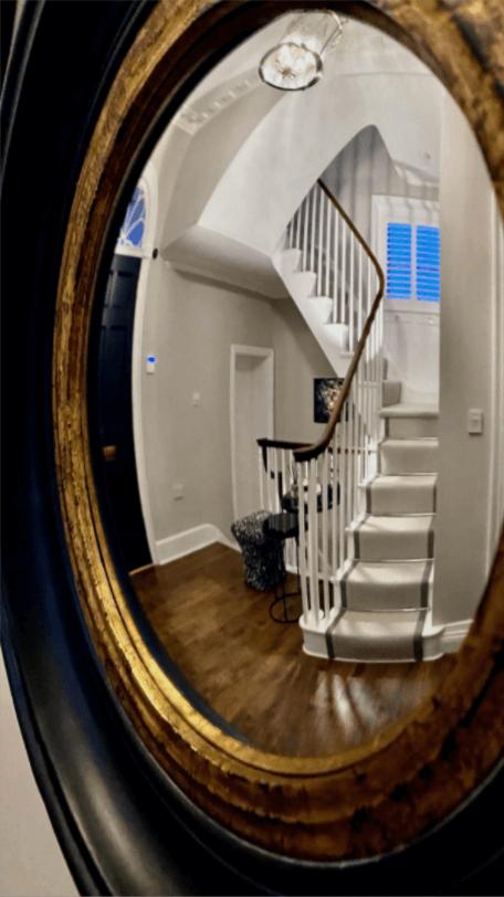 modern Georgian home staircase