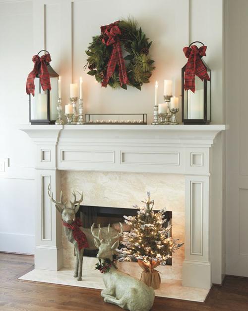 Christmas Designed Fireplace