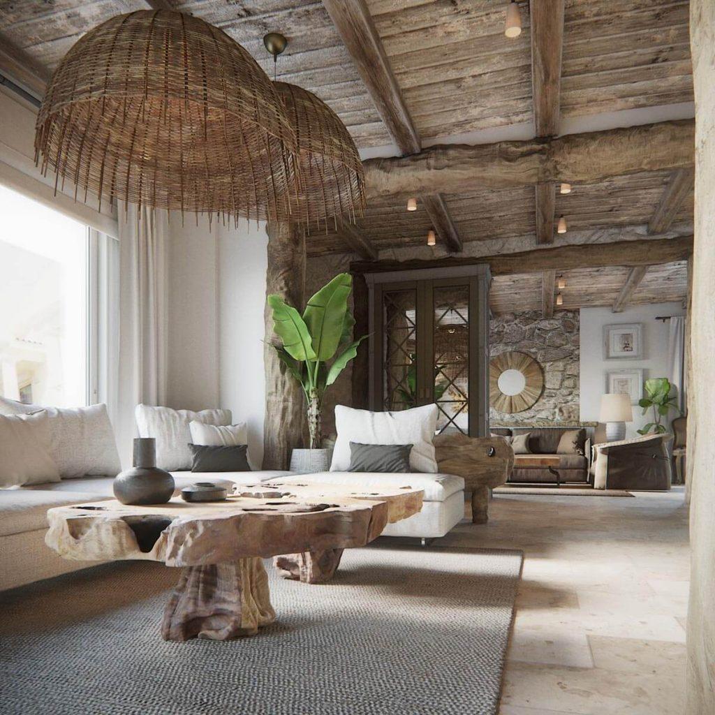 interior design trends 2021 rustic chic