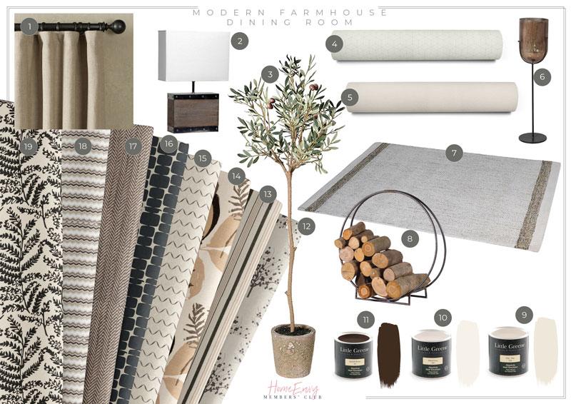 Modern-Farmhouse-Dining-Room-Fabrics