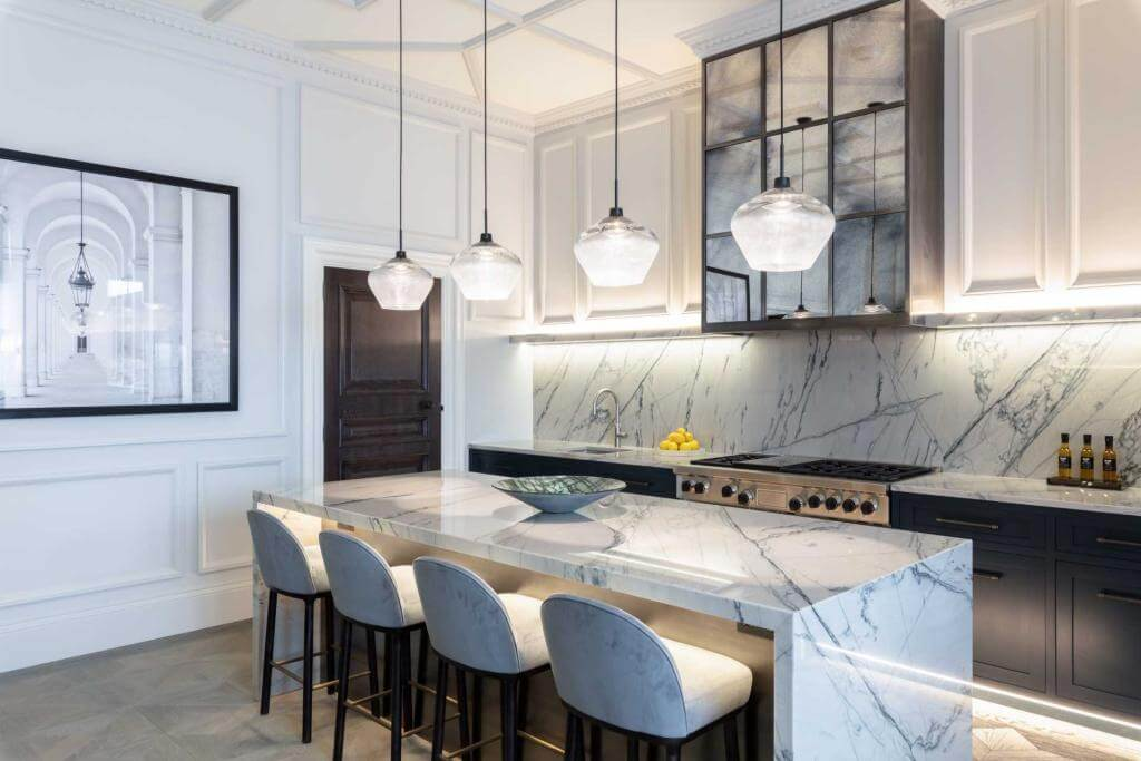 Blue Grey Contemporary Kitchen Ideas