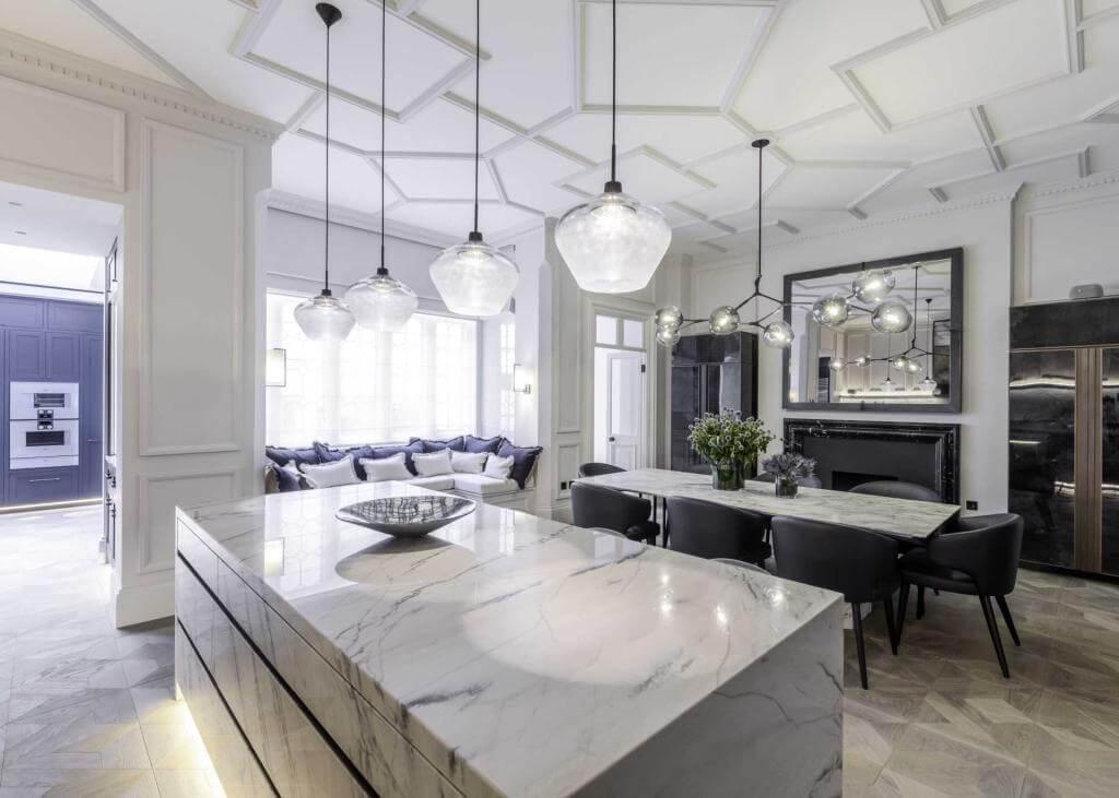 Black, White + Grey Contemporary Kitchen Ideas